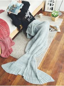 Morden Grey Mermaid Tail Blanket Spring Summer Blanket