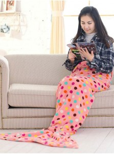 Soft Dot Pink Sofa Leisure Blanket Mermaid Tail Blanket