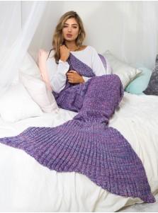 Modern Air Condition Purple Mermaid Tail Blanket