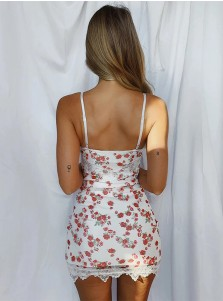 Bodycon Mini Floral Dress