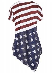 Asymmetry American Flag Patriotic Tee