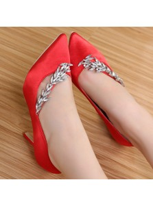 Women's High Heel Six Colors Prom Shoes with Rhinestones