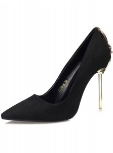 Black Closed Toe High Heels For Women