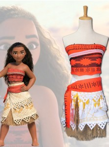 Moana Romance Two Piece Moana Cosplay Costume for Child