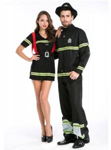 Couples Halloween Costumes Sexy Adults Cosplay Fireman Fancy Halloween Costume