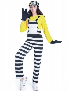 Adult Couples Halloween Costumes Unisex Minion Cartoon Characters Movie Jumpsuit Cosplay Costume