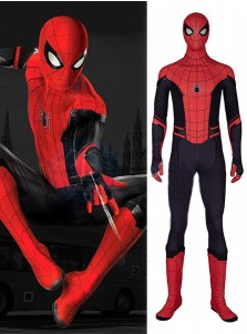 New Spider-Man Far From Home Spiderman Peter Parker Cosplay Costume