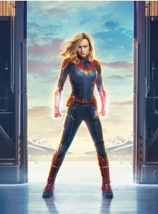 Marvel 2019 Movie Captain Marvel Carol Danvers Printed Cosplay Costume