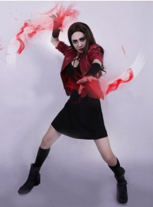 Marvel Avengers Scarlet Witch Cosplay Costume