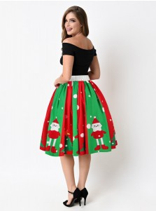3D Printed Santa Multi Color Christmas Skirt