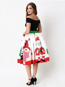 3D Printed Santa Ornament White Christmas Skirt