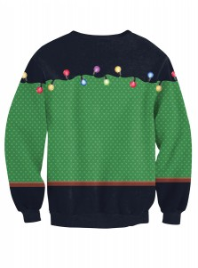 Multi Color 3D Printed Long Sleeve Christmas Pullover Sweatshirt