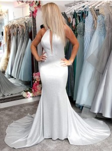 Satin Mermaid Prom Dress