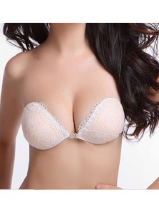 Fashion Lace Appliques Strpless Backless Push Up Bra