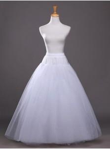 White Hoopless Bridal Wedding Dress Petticoats/Cirnoline