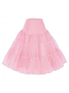 """Shengfn Women Vintage 50s Rockabilly Petticoat 25"""" Length Tulle Underskirt"""