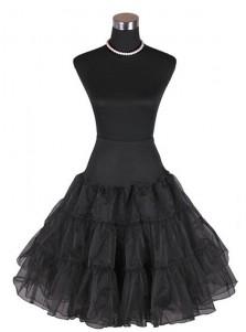 Women 50s Vintage Rockabilly Petticoat Skirt Knee-length Tulle