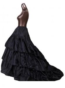 Mermaid Black/White 3 Tiers Petticoat Underskirt