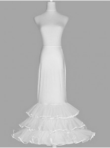 White A-line Slip Multi-tier Wedding Dress Petticoats