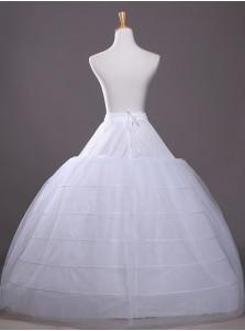 White 4 Hoops Plus Size White Wedding Petticoats/Crinoline