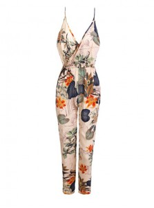 Sexy Women Cotton Straight Legs Jumsuit