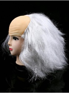 Halloween White Cospaly Wigs Baldheaded Wigs Party