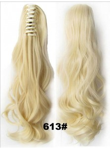 HairQueen Hairpiece Long Wave Claw Ponytail Clip-in Hair Extensions