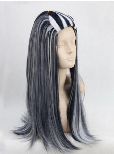 Halloween Posplay Wigs Black and White Mixing
