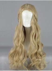 Movie Maleficent Cosplay Princess Aurora Long Blonde Wig