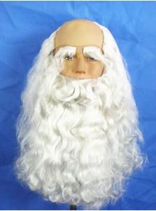 White Santa Beard Wigs Halloween