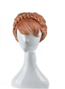 Frozen Anna Princess Grey Coaplay Wigs