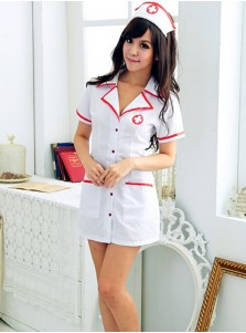 Nurse Uniform Temptaion Sexy V-Neck Nurse Costume Set Cosplay Costume