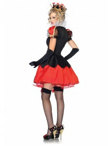 Sexy Ladies Adult Fairytale Queen Of Hearts Fancy Dress Costume Reading outfit Costume
