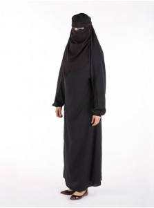 Muslim Islamic Women Full Length Plain Burka/Burqa with Face Cover Veil/Niqab