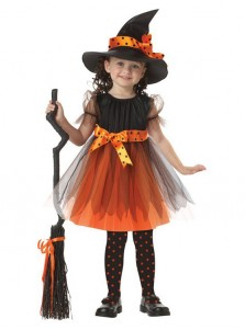 Halloween Kids Witch Dress Witch Costume Bow-knot Party Cosplay Performance Clothes For Girls