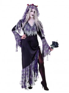 Corpse Bride Ladies Halloween Ghost Fancy Dress Adult size