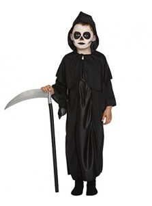 Black Boys Grim Reaper Halloween Costume With Hat