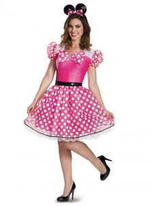 Pink Minnie Mouse Glam Plus Size Costume For Women