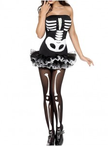 Ballet Short Ball Gowns Skeleton Halloween Custome For Women