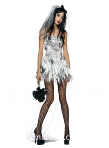Sexy Spaghettis Short Corpae Vampire Halloween Bride Custome For Women