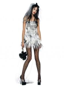 Sexy Spaghettis Short Corpae Vampire Halloween Bride Custome For Women