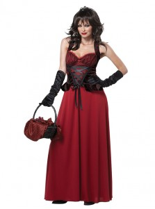 Vampire Dark Red Riding Hood Womens Halloween Costume