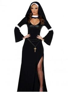 New Style Arab Sister Balck Sheath Halloween Custome With Hat