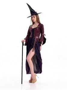New Style Witch Halloween Custome Anime Cosplay Women's Clothing
