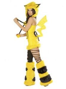 Japanese Yellow Pikachu Halloween  Costume For Women