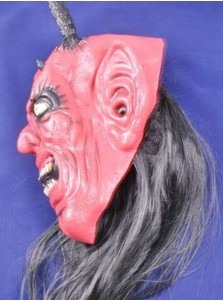 Halloween Mask Scary Red Monster Adult Costume