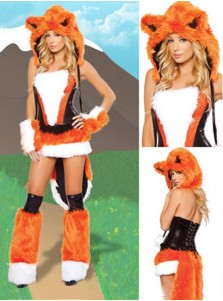 Halloween Party Dress Uniform Orange Service Wolf