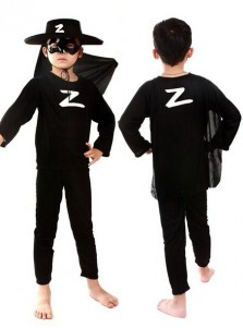 kids Zorro Costume Halloween Cosplay