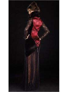 Dinv Female Vampire Monster Black Lace Dress