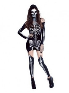 Halloween Dress Female Skull Vampire Zombie Halloween Costume